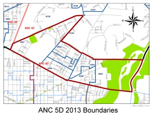 Ward 5 ANC 5D Boundaries