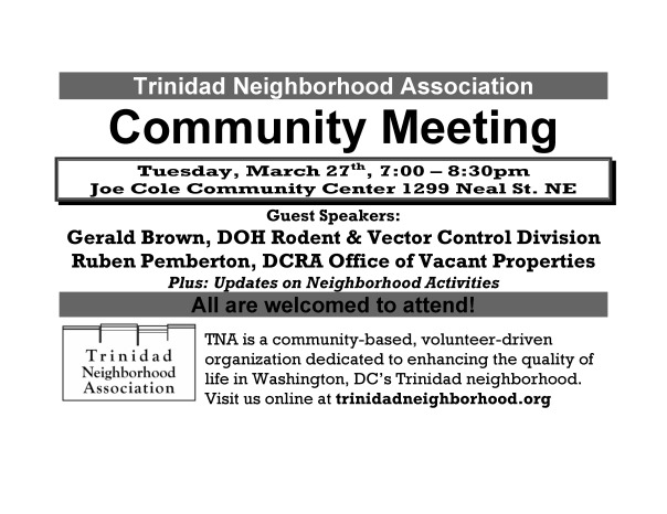 March 27, 2012 meeting notice