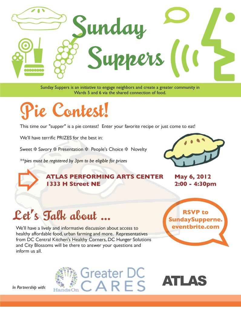 Sunday Suppers Pie Contest 5.6.12