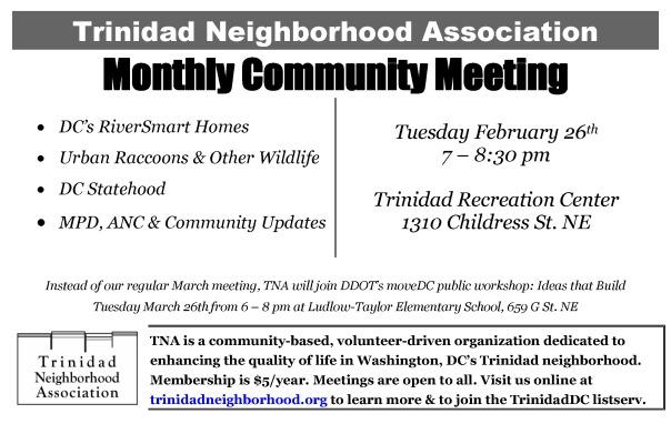 TNA Feb 2013 meeting notice