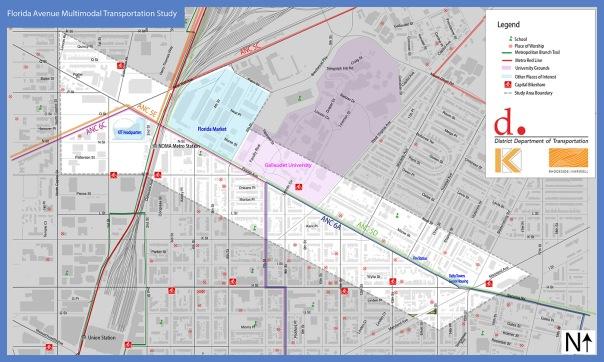 Florida Ave Multimodal Transpo Study Area