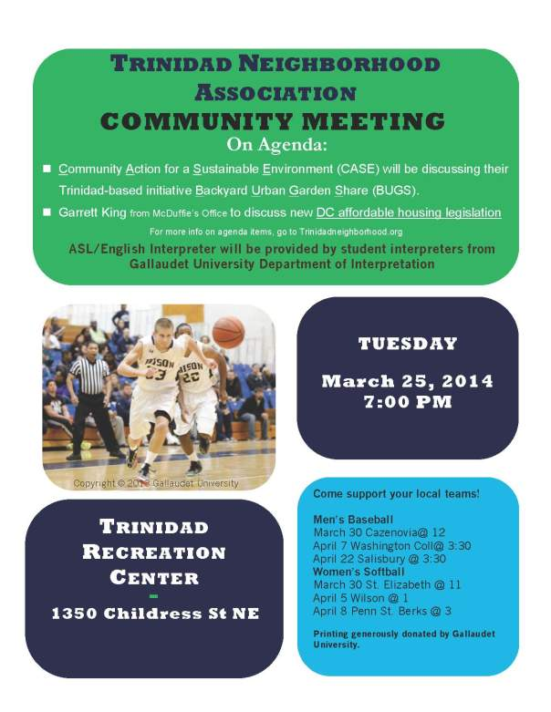 Trinidad Neighborhood Association Meeting March 25, 2014
