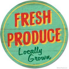fresh produce sign