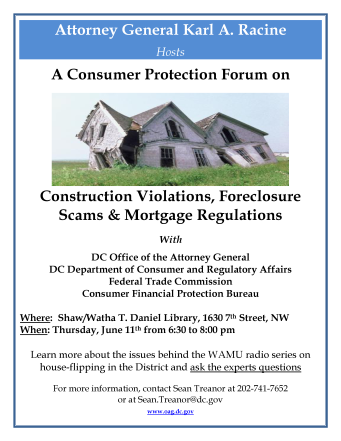 OAG housing forum flier